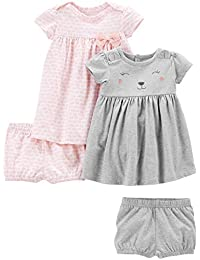 Simple Joys by Carter's Bebé-Niñas 2-pack Short-sleeve and Sleeveless Dress Sets
