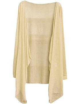 Cardigan Damen Sommer, Sondereu Strickjacke Langarm Sonnenschutz Outwear Vorne Öffnung Asymmetrischer Saum Solide...