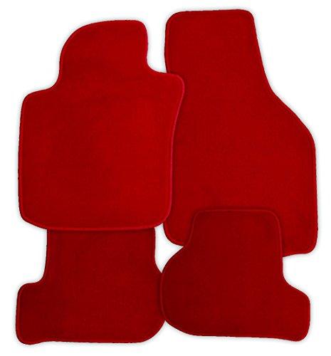 Preisvergleich Produktbild Fussmatten Velours rot Juwel passend für Peugeot 208 Fließheck 5trg. 01.01.2012- X 2 VW Halter auf FM