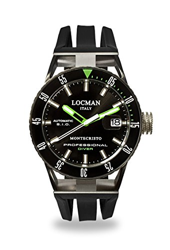 Locman Italy Men's Analog Automatic-self-Wind Watch with Rubber Strap 0513KNKGBKNKSIK