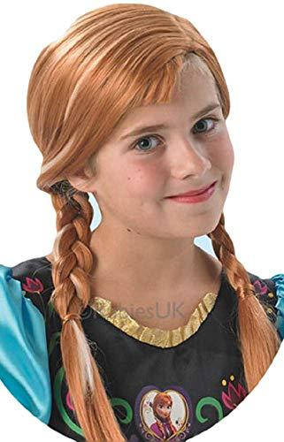 Mädchen Offiziell Disney Anna Frozen Braun Brünett Geflochten -