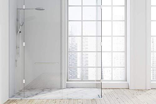 Duschrückwand aus hoch schlagzähem Kunststoff zur vollflächigen Verkleidung auf bereits vorhandenen Fliesen oder anderen Materialien (weiß/matt)