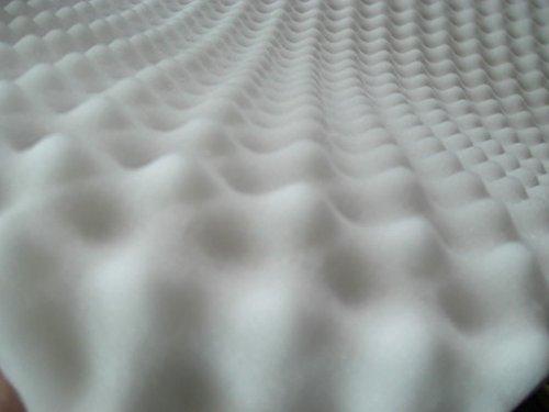 lulushop Noppenschaumstoff Zuschnitt (ca.100 x 50) Akustik Schaumstoff Akustikschaumstoff Dämmung Platten (100x50x 4cm, Weiß)