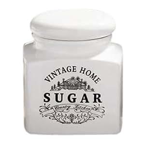 Premier Housewares Vintage Home Quadratische Zuckerdose