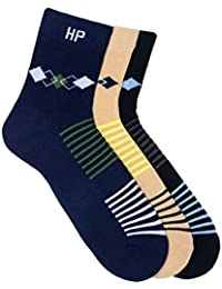 Hush Puppies Men's Ankle Soft Combed Cotton Pack of 3 Pair Socks