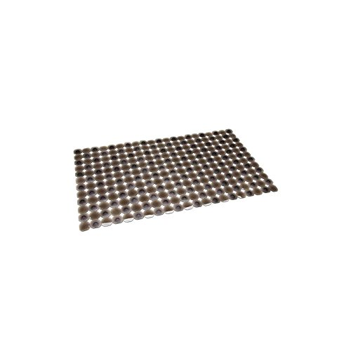 Alfombra bañera/ducha antideslizante negra (68.5x38)