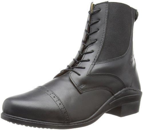 Loveson Funnell Paddock Laced - Botas de equitación, color negro, talla 3/EU 35