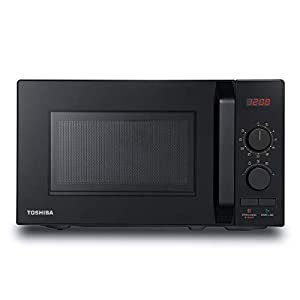 Toshiba 800 w 20 L Microwave Oven with 8 Auto Menus, 5 Power Levels, Mute Function, and LED Cavity Light - Black - MW2-AM20PF(BK)