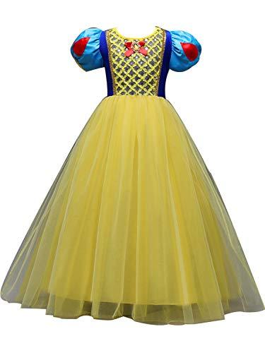 FStory&Winyee Mädchen Prinzessin Schneewittchen Kostüm Kinder Smowwhite Cosplay Tutu Kleid Tüll Karneval Verkleidung Party Weihnachten Faschingkostüm für Mädchen
