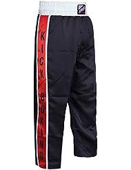 Farabi Trouser Muay Thai Kickboxing Trouser Mix Martial Arts Clothing Kickboxing Cage UFC muai Thai Bottom, color negro, tamaño medium