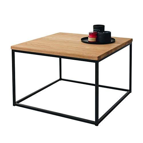 Original-BestLoft® 1 Couchtisch Boston Beistelltisch Industriedesign Loft (Eiche hell + Gestell schwarz) -