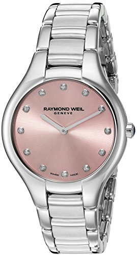 Raymond Weil Women's 'Noemia' Swiss Quartz Stainless Steel Dress Watch, Color:Silver-Toned (Model: 5132-ST-80081)