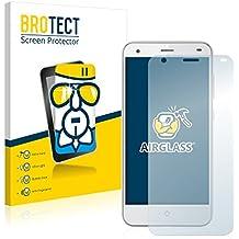 BROTECT AirGlass Protector Pantalla Cristal Flexible Transparente para ZTE Blade S6 Protector Cristal Vidrio - Extra-Duro, Ultra-Ligero, Ultra-Claro