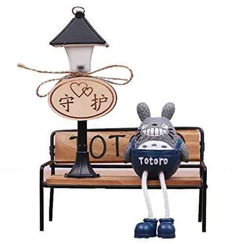 Mein Nachbar Totoro Eisen Kunst Nachtlicht Harz Hängen Puppe Handwerk Dekoration Lesetisch Schreibtisch Lampen Kinder Geschenk Zubehör Fee Miniatur Wohnkultur,A