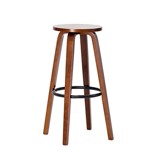 WYF-Holzstuhl Holzstuhl Barhocker/Barhocker aus massivem Holz/Barhocker Barhocker Barhocker aus Barhocker, Kaffee Barhocker (Farbe : A2)