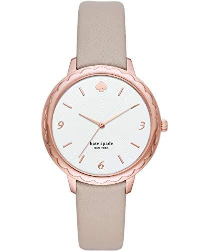 Kate Spade New York - Reloj para Mujer de Cuero con Esfera en Tono Rosa Dorado KSW1508