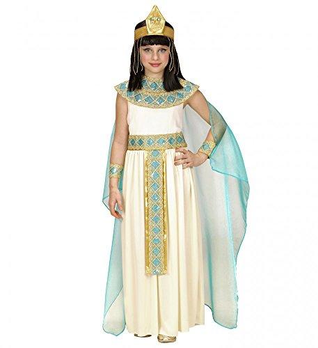 Hochwertiges Cleopatra Kinderkostüm für Mädchen Ägypterin Kostüm Pharaonin Königin, Kindergröße:128 (Kinder Cleopatra Kostüm)