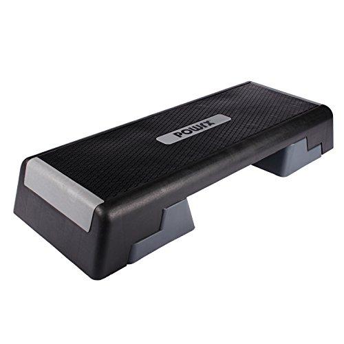 Profi Aerobic Fitness Step Steppbrett Stepper L:101 x B:36 Höhe bis max. 25 cm verstellbar Powrx