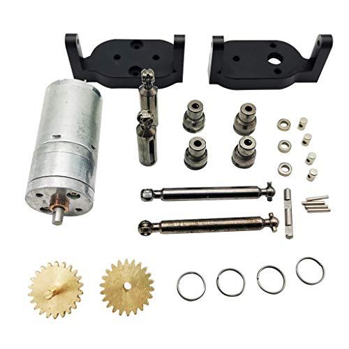 HSKB Upgrade Metall Verbessertes Getriebe mit Shift-Servo-Ersatzteil für WPL C34 1/16 4WD 2.4G RC Car Crawle DIY Zubehör (Schwarz)