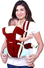 LuvLap Elegant Baby Carrier with 4 carry positions, for 6 to 24 months baby, Max weight Up to 12 Kgs (Re
