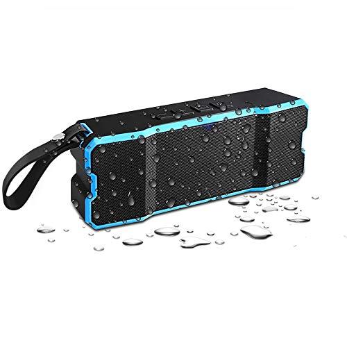Bluetooth Lautsprecher Wasserdicht,Alitoo Tragbar Soundbox Wireless Musik Box Außen Speaker Eingebauten Mikrofon,mit Dual-Treiber,12 Stunden Spielzeit,Arbeiten für Smartphone,Tablette,iPad