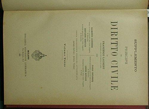 Supplemento ai Principi di diritto civile di Francesco Laurent. Vol. III