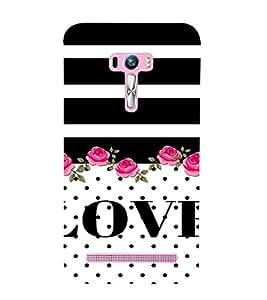 PrintVisa Love Quotes Design 3D Hard Polycarbonate Designer Back Case Cover for Asus Zenfone Selfie