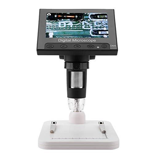 Microscopio Digitale, Akozon Microscopio USB Elettronico Professionale Supporto Portatile 4,3 pollici Display 2 MP 500 / 1000X Foto e Video 8 LED(Supporto in plastica)