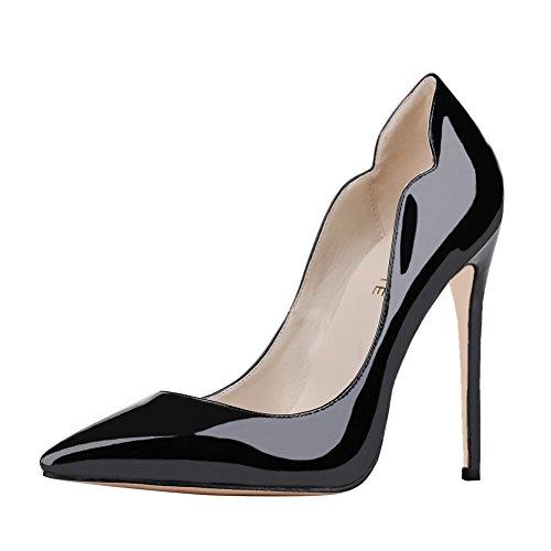 MERUMOTE , Chaussures à talon fin femme Negro - Schwarz-Lackleder