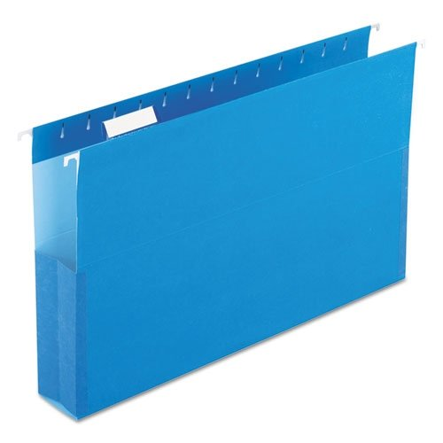 SureHook Reinforced Hanging Box Files, 2'' Expansion, Legal, Blue, 25/Box, Sold as 1 Box