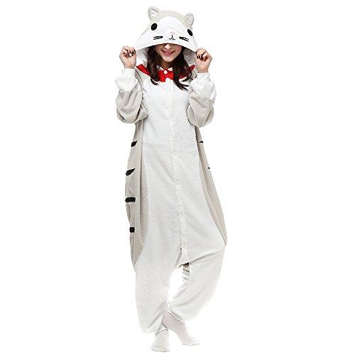 Silver_river Erwachsene Unisex Kigurumi Onesie Chi's Kostüm Pyjamas Cosplay (Kostüme Halloween Onesies Erwachsene)