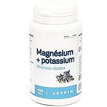 Leppin – Magnesio + Potasio en 120 cápsulas – Citratos minerales – Alta biodisponibilidad – Complemento