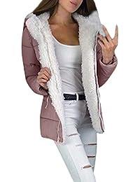Mxjeeio- Mujer Invierno Casual Sexy Suelto Moda Tamaño Grande Más Gruesa Abrigo Parkas Militar con Capucha Chaqueta de Acolchado Anorak Jacket Outwear Coats,Abrigos de Mujer Invierno