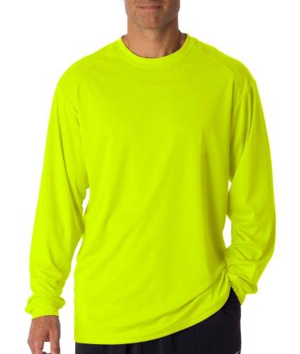 Badger Sportswear Men' s b-dry maglietta a manica lunga Safety Yellow
