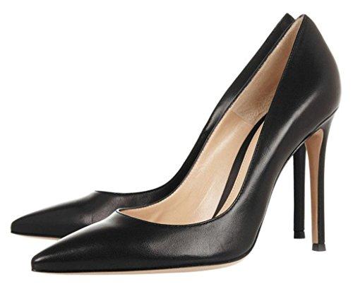 EDEFS- Femme Escarpins - Talon Haut - Aiguille - Noir - Classique - Chaussures Femme - Bout Fermé Noir