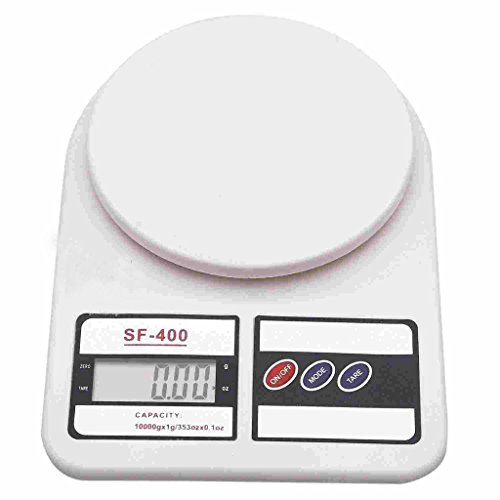 JAPP Electronic Digital 10 Kg Weight Scale Lcd Kitchen Weight Scale Machine Measureformeasuringfruits,Spice,Food,Vegetable And More (Sf-400) White