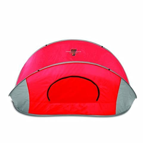 NCAA Texas Tech Red Raiders Manta Portable Pop-Up Sun/Wind Shelter, Red by Picnic Time