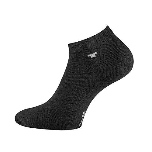 TOM TAILOR Unisex - 8 Paar Sneakersocken (Schwarz, 39/42)