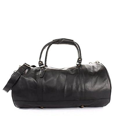LECONI sac voyage femme homme sac en cuir besace weekend sac de sport nature 53x28x28cm LE2004