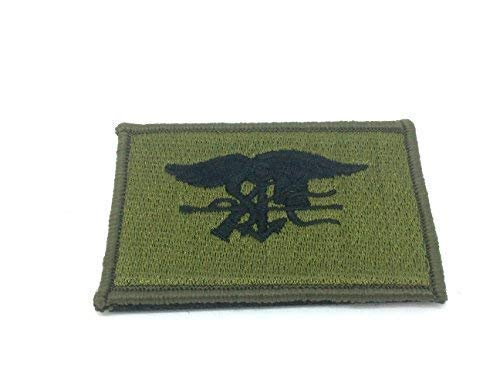 Gestickte Adler (Patch Nation US Navy Seal Spezielle Ops Adler Grün Gestickte Airsoft Klettverschluss-Flecken)