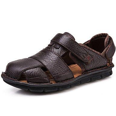 Sandálias Dos Homens Do Verão Da Mola Conforto Outono Couro Nappa Exterior Escritório De Café Casuais Sapatos De Água Marrom Us6-6.5 / Eu38 Uk5-5.5 Cn38