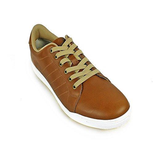 Zerimar Qualität Leder Golfschuhe Sport und Komfortabel Casual Running Farbe Tan Größe 42 (Tan Golf Schuhe Damen)