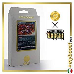 Hydreigon 33/70 Holo Reverse - #myboost X Sole E Luna 7.5 Trionfo dei Draghi - Box de 10 Cartas Pokémon Italiano
