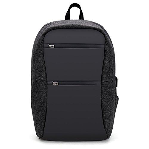 Wsnh888 zaino multifunzione idrorepellente da uomo business pacchetto antifurto borsa da viaggio per computer portatile con ricarica usb,black