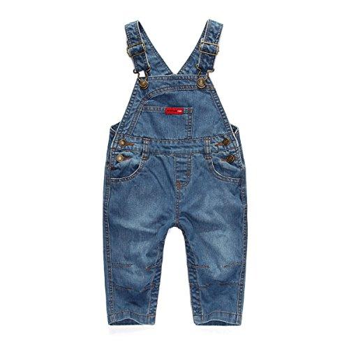 Cystyle Latzhose Winterhose Baby Kleinkind Jungen Mädchen Jeanshose Baumwolle Tasche Jeans Hosen Baby Kinder Overall (18-24M/Körpergröße 82-92CM)