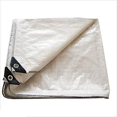 GL-Shading net Tarp Cover White PE wasserdicht, ideal für Planenüberdachungszelt, Boot, Wohnmobil oder Poolabdeckung -0,3 mm 120 g / m2 Sonnensegel (Größe: 10 mx 10 m) -