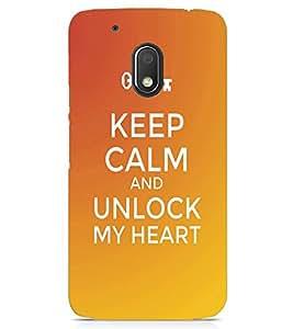 PRINTSWAG Designer KEEP CALM Backcover For Motorola Moto G4 Play