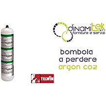 Telwin - Bombona gas argón+CO2, 1 l, no recuperable