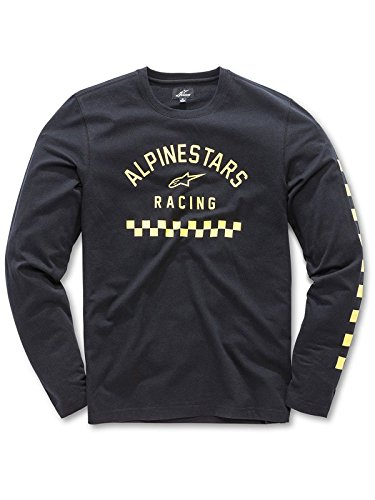 Alpinestars t- Shirt legére Manches Longues, Jersey perforé, col Rond, Impressions Motorsport, Coupe Moderne Runner kit Homme, Black, FR : 2XL (Taille Fabricant : XXL)