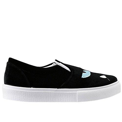 Chiara Ferragni Femme CF690 Noir Velours Chaussures De Skate